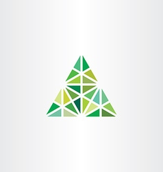 abstract geometric green triangle icon vector image