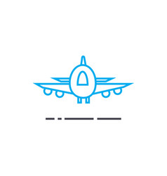 air delivery thin line stroke icon air vector image