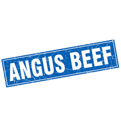Angus beef square stamp vector