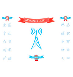 antenna icon symbol vector image