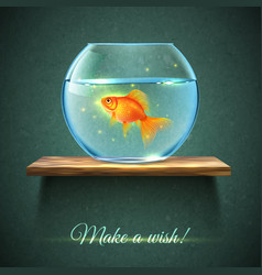 Aquarium On A Shelf Poster vector