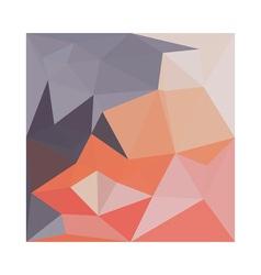 Atomic tangerine orange abstract low polygon vector