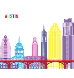 Austin skyline pop vector