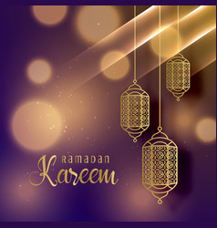 Beautiful hanging lamps for ramadan kareem season vector