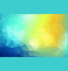 beauty colorful polygonal geometric background vector image