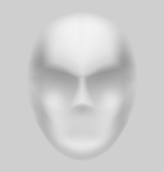 Blurry face vector