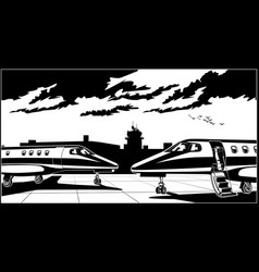 Business jets vector
