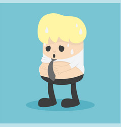 business men are too fat and he has big tummy vector image