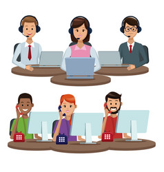 call center customer service vector image