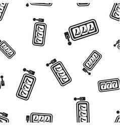 casino slot machine seamless pattern background vector image