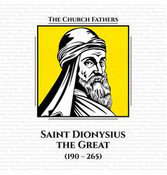 Church fathers saint dionysius great vector