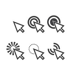 Click icon vector