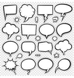 comic bubbles and elements 4 vector image