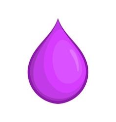 Drop oil icon cartoon style vector