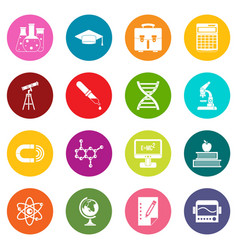 education icons many colors set vector image