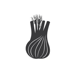 Fennel root plant glyph icon vector