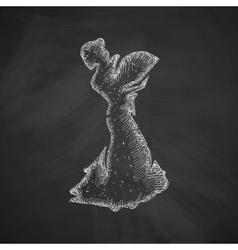 Flamenco dancer icon vector