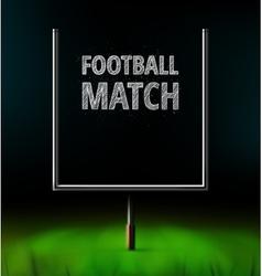 Football match vector