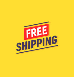 free shipping delivery banner design truck vector image