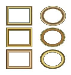 gold bronze frame set pattern vector image