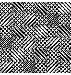 Grid mesh of zigzag edgy lines mosaic like grill vector