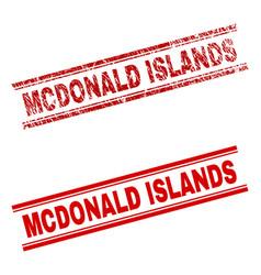 Grunge textured mcdonald islands stamp seal vector