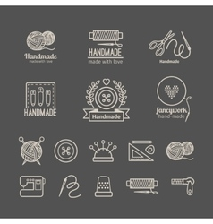 Handicraft logo set vector