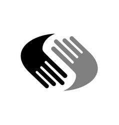 helping hands symbol design vector image
