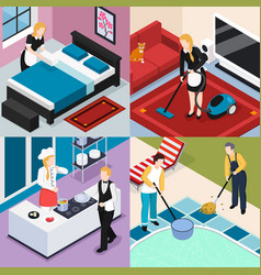 Home staff 2x2 design concept vector