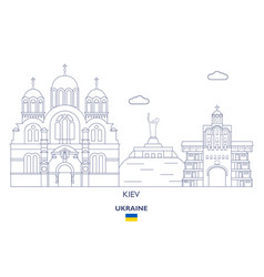 Kiev city skyline vector