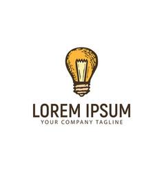 lamp hand drawn logo design concept template vector image