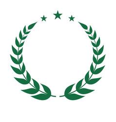 laurel sign vector image
