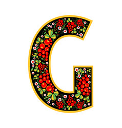 Letter g in the russian style the style of vector