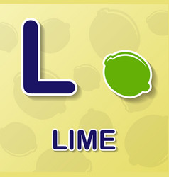 Lime alphabet background vector