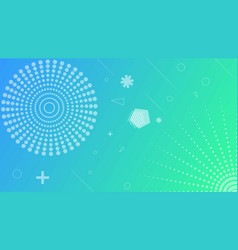 Linear blue green abstract background vector