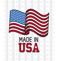 made in usa emblem vector image