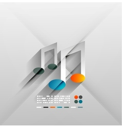 music concept 3d paper design vector image