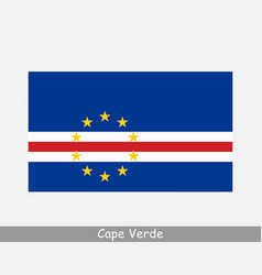 National flag cape verde cabo verde country vector