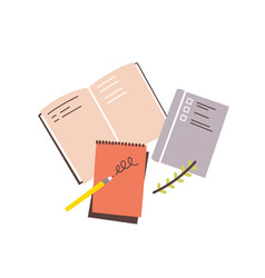 notebooks notepads memo pads planners vector image