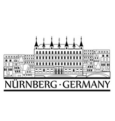 Nurnberg city symbol old german nuremberg travel vector