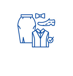 office dresscode line icon concept office vector image