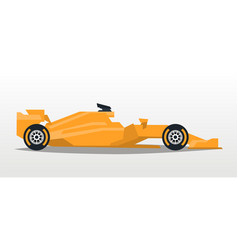 Orange racing bolid sports car quick transport vector