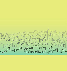 outline of the city vector image
