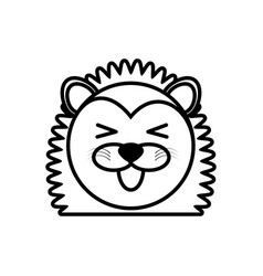 Outline porcupine head animal vector