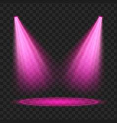 Purple spotlight light effect vector