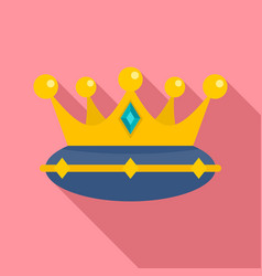 Queen crown icon flat style vector
