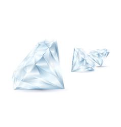 realistic detailed 3d shiny bright diamond set vector image