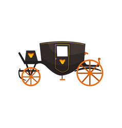 Retro carriage vintage transport vector