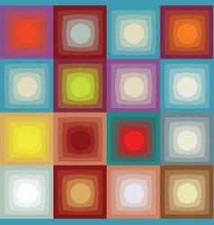 Retro square pattern vector