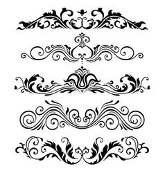 Retro victorian elements collection vector